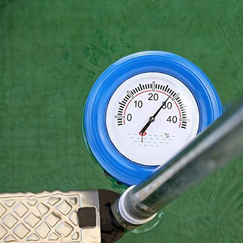 Zer one1 Wasserdichtes schwimmendes Thermometer Wasserdichtes schwimmendes Thermometer, Pool-Temperaturmesser Pool-Thermometer, für Außenpool, Aquarium, Fischteich