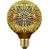 YANUODA Led Bulbs 3D Firework Edison Bulb Golden Tint Glass Decorative Light Bulb 4W AC85-265V E26 Medium Base (G95)