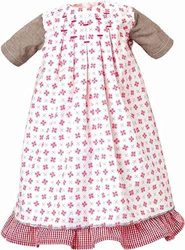 Käthe Kruse 54652 - jurk met onderrok 52-56 cm, wit/rood