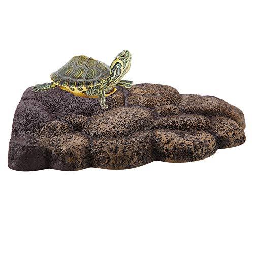 Schildkröte Schwimmende Plattform Turtle Dock Resin Turtle Magnetische Platform Einzigartige Schwimminsel für Wasser lebende Tiere Halbwassertiere(NS-78 S)
