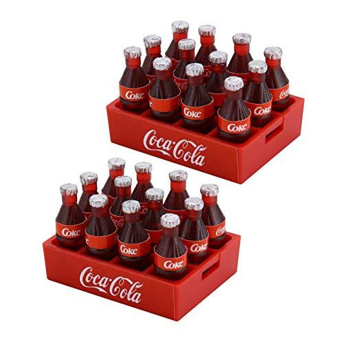 2 STÜCKE Mini Cola Flasche & Tablett Dekoration Zubehör Werkzeuge Miniatur Spielzeug Puppe Trinken Küche Für 1/10 RC Crawler D90 Axial SCX10