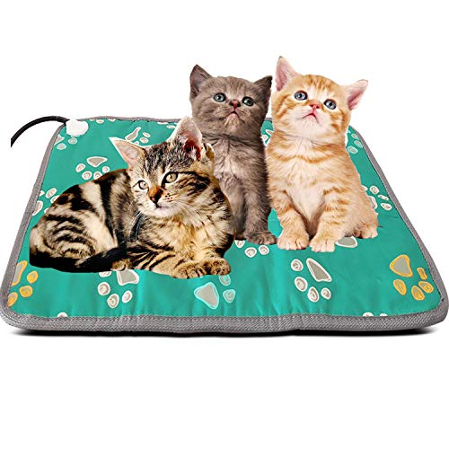 Rosycat Outdoor Large Pet Heating Pad Outside Cats Electric Heated Mat for Cats Indoor Dog Heated Bed Warming Mat Pet Crate Thermal Pad Waterproof Heat Pad Large Breed Cat House Heater Pad Exterior