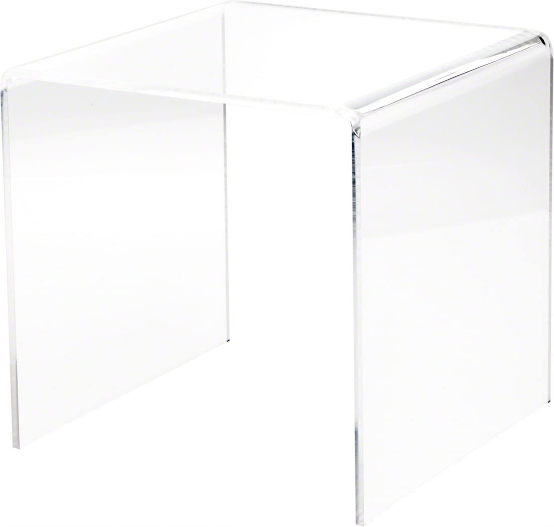 Plymor Clear Acrylic Square Display Riser H 9