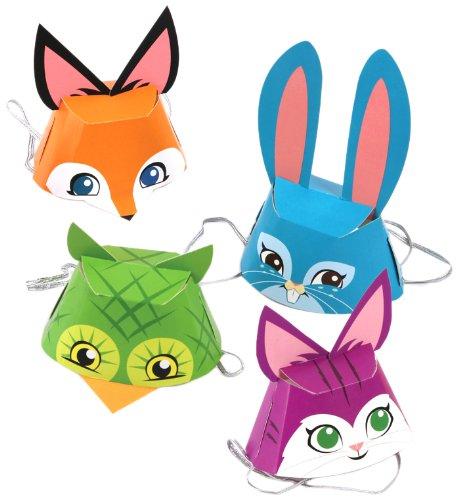 Gama Go Chapeaux de fête en Papier, Animal, Multicolore
