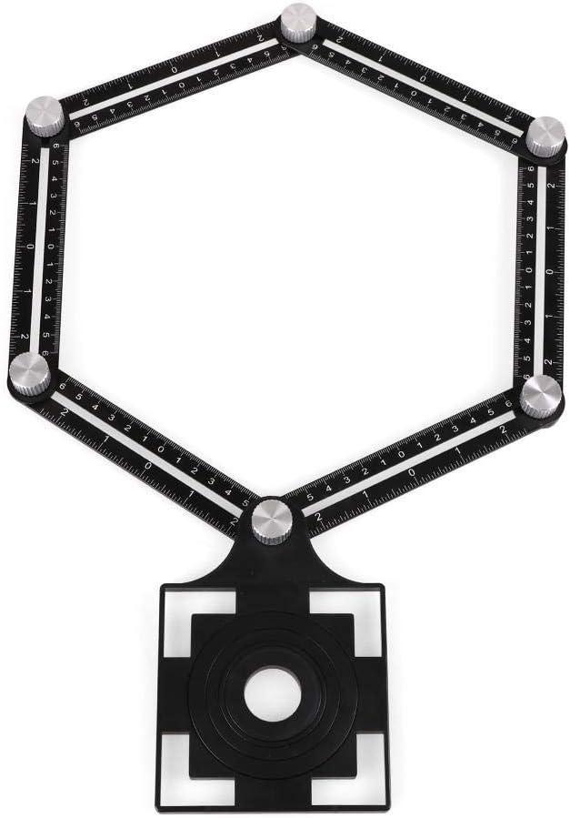 NFRADFM 6 Folding Rulers Aluminum Opening Til Locator Alloy Fashionable Tile New product! New type