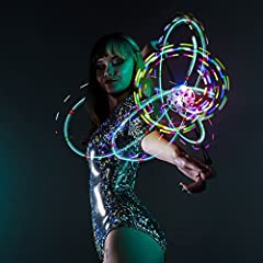 6 Hypnotic Flashing Patterns - 3 Mode Shuffles - 20 Color Options Designed for Comfort and Durability: World's Easiest Spinning Orbit! Comes with everything you need right out of the package: ZERO Orbit Casing, 4 x eLite Flow Orbit Lights, 2 x Keyrin...