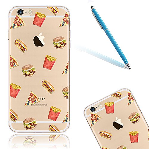 CLTPY Custodia per iPhone 6Plus/6sPlus, Cute Cartone Animato Fiore Pattern Disegno Serie Ultra Sottile Leggero Morbido Case per iPhone 6Plus,iPhone 6sPlus + 1x Stilo - McDonald