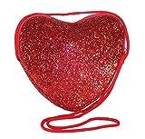 Sparkle Club Borsa per bambini a forma di cuore con glitter rossi.