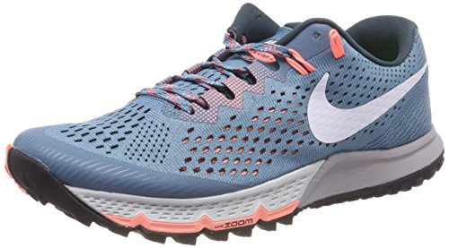 Nike Women's Trail Running Shoes, Blue Noise Aqua Deep Jungle Crimson Pulse White 401, 40