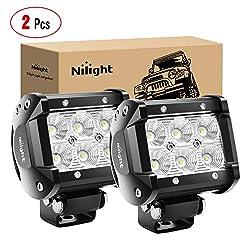 cheap Nilight60001 F-B Bar 2PCS18w 4 ″ Flood Fog Street Boat Driving LED Work Light SUV Jeep Lamp, 2…