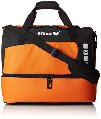 Erima Sporttasche mit Bodenfach Club 5 Line, Orange/Schwarz, Medium