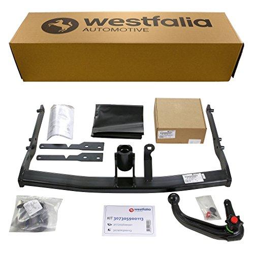 Westfalia abnehmbare Anhängerkupplung - AHK für Ford S-Max (05/2006 - 12/2014) - Im Set mit 13-poligem fahrzeugspezifischem Westfalia Elektrosatz