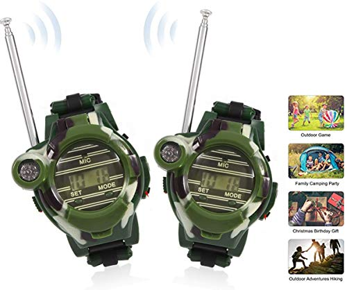 Kids Walkie Talkies Watches Outdoor Toys Two-Way Radios Walky Talky Transceiver Children Interphone Game for Boy and Girl with Flashlight Speculum Compass Magnifier Lens