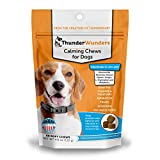ThunderWunders Dog Calming Chews | Thiamine, L-Tryptophan, Melatonin and Ginger | Can Help Relieve Stress from Separation, Storms, Fireworks & Travel (60 Count)