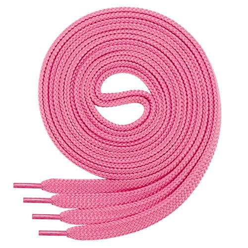 Di Ficchiano Flache SCHNÜRSENKEL für Sneaker und Sportschuhe-pink-Länge 170cm - 12mm breit