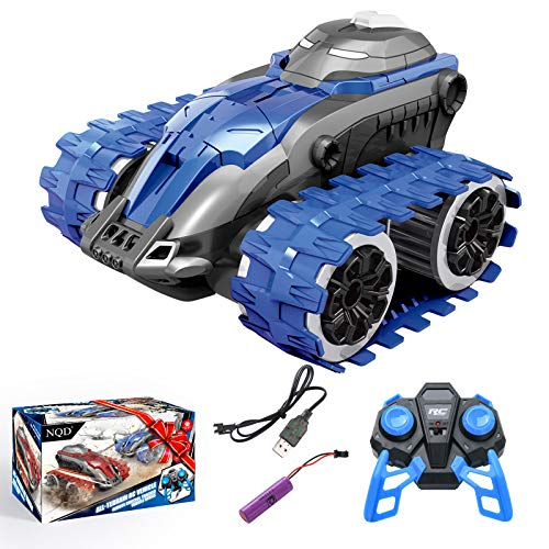 NQD Remote Control Car, RC 2.4Ghz All Terrains Off Road Truck High Speed Tracked Car with Rechargeable Batteries for Boys Kids(Blue)