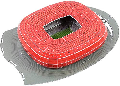WPLHH Paper 3D Puzzles,Germany Munich Football Stadium Building Sets 3D Construction Toys Model Kits,Educational Toy for Kids And Adults,Gift for Boys and Girls