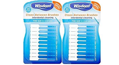 Wisdom - 2 packs de 40 cepillos interdentales de fácil uso