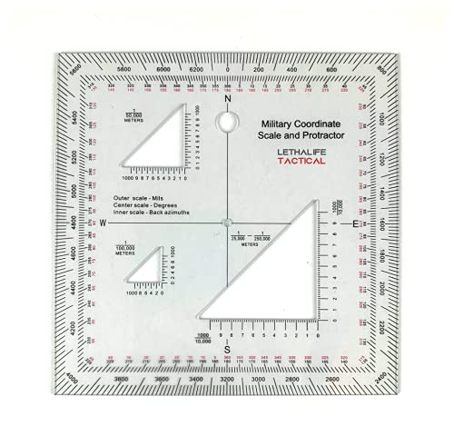 Military Protractor for Land Navigation