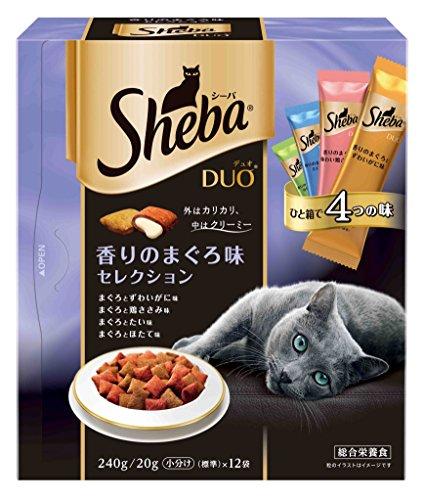 シーバ (Sheba) デュオ 香りのまぐろ味セレクション 240g(20g×12袋入) SDU12