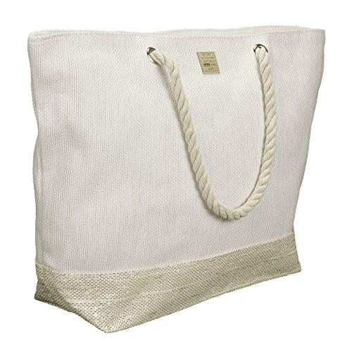 Strandtas, badtas, boodschappentas, shopper, ideaal voor uw vakantie Shiny in wit, mint, grijs + roze