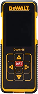 DEWALT Digital Electronic Bright LED Laser Distance Tape Measurer Device | 165-Feet ft For Maximum Coverage | Single-distance Measurement/ Continuous Measurement/ Area