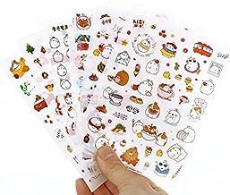 Inovat Cute Molang Rabbit Bunny Rabbit Charactor Sticker Diary Scrap Book Scrapbooking Decor Decoration 6 Sheets Lot Korean Stationery, Version 3rd