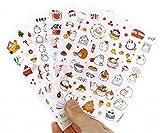 Inovat Cute 'Molang Rabbit' Bunny Rabbit Charactor Sticker Diary Scrap Book Scrapbooking Decor Decoration 6 Sheets Lot Korean Stationery, Version 3rd