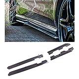 KKLL Faldones Laterales Real de Fibra de Carbono alerón 4pcs Divisor/Set Fit For Benz W212 E63 AMG 11-14 Lateral de la Falda de Extensión