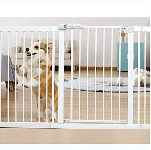 Jacquelyn Safety Gate Pressure Fit Safety Metal Gate Stands 80cm tall The width can be selected from 76 to 222cm Dog Gate Baby Gates with Extensions Available Ideal for Kids and Pets