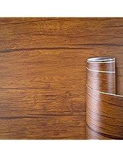AWNIC 壁紙シール はがせる 木目調 リメイクシート 防水 防カビ 防汚 模様替え テーブル 家具 壁用 浴室 トイレ 台所 キッチン リフォーム用 カッティングシート 原生態 森
