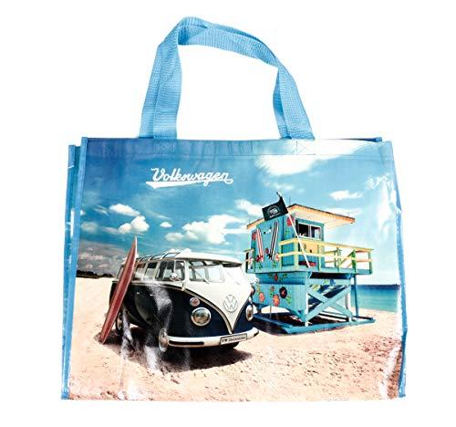 Shopper Tasche mit Schultergurt, T1 Bus, Tragkraft max. 30 kg, Größe ca. 48 x 38 cm, Retro-Design