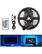 LED Remsa Ljus 5050 RGB SMD 300 LED IP65 Vattentät, Flerfärgad LED Remsa Ljus med 44 Tangenter Infraröd Fjärrkontroll, Flexibel LED-Remsa för Dekorering