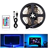LED Striscia RGB 2M LED TV Retroilluminazione Striscia 60LED 5V SMD 5050, USB Bias TV LED posteriore di illuminazione Kit Con IR Telecomando per HDTV e PC Monitor