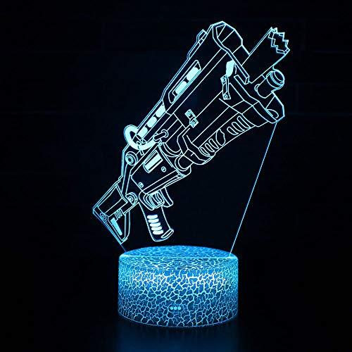 3D Illusion Nuit Lumière Win-Y LED Bureau Table Lampe 7 Couleur Tactile Lampe Maison Chambre Bureau Décor pour Enfants D'anniversaire De Noël Cadeau (MY-6)
