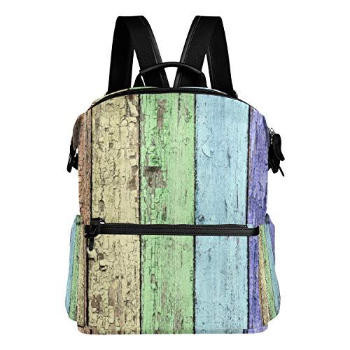 MALPLENA Colore Arcobaleno Grungy Pavimento Modello Scuola Zaino Zaino Escursionismo