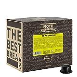 Note d'Espresso - Cápsulas de café para las cafeteras Caffitaly, Lemon Tea, 100 unidades de 9,5 g