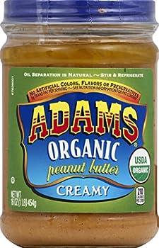 Adams Organic Creamy Peanut Butter, 16 Ounces