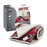 Imetec Adapto Velvet Tartan, Manta eléctrica de 160 x 120 cm, tejido aterciopelado y sedoso, equipado con tecnología Adapto, dispositivo de seguridad, 6 temperaturas, se puede lavar en la lavadora