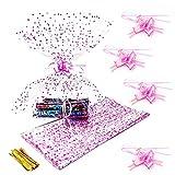 20 Piezas Bolsas de Celofán Transparentes, Papel de Envoltura de Regalo Transparente con Decoración en Forma de Corazón Rosa para Varios Regalos, 70 * 50 cm