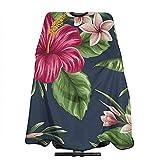 Salon Cape Tropische Hawaii Blumen Und Pflanzen Shampoo Styling Schürze 140X168Cm Haare Schneiden...