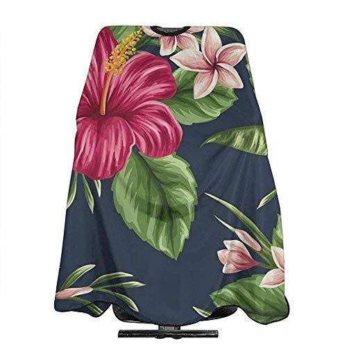 Kapper Schort Tropische Hawaii Bloemen En Planten Shampoo Styling Schort 140X168Cm Haar Snijden Unisex Kapsel Salon Cape Capes Wai Doek Vrouwen Mannen