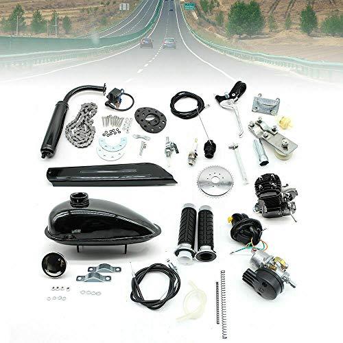 50ccm Fahrradmotor Kit 2 Takt Moteur Motorisiertes Gas Fahrrad Umrüstset Motorisiertes Kit mit Werkzeugen DIY für 26
