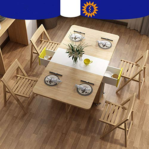 Shozafia 5 Pcs Fully Assembled Foldable Kitchen Table Set Space Saving Dining Set Rolling Wood Folding Dining Table With Chairs On Wheels For Small Space Buy Online In Luxembourg At Luxembourg Desertcart Com Productid