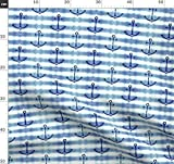 Maritim, Ozean, Anker, Strand, Boot Stoffe - Individuell