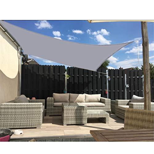 JHKGY Toldo de tela para toldo, impermeable, cuadrado, 95% resistente a los rayos UV, para patio al aire libre, jardín, patio trasero, 3 × 5 m