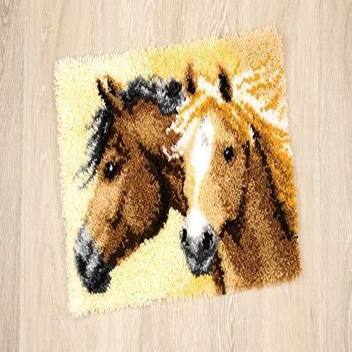 Vervaco PN-0144834 knooptapijt vurige paarden
