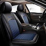 Chemu Housses de sièges avant et arrière en cuir noir pour Dacia Duster Sandero Stepway 2 Lodgy Logan Dokker 2