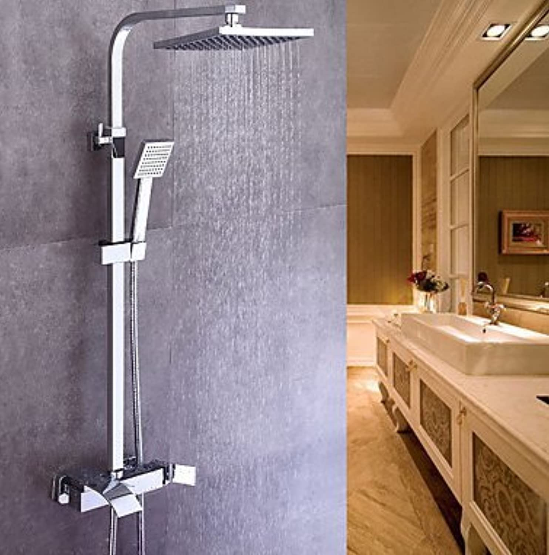 Modernen Centerset Handbrause inklusive Keramik Ventil Single Griff zwei Lcher Chrom, Dusche Wasserhahn