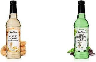 Jordan's Skinny Syrups | Sugar Free Carmel Glazed Donut Syrup | 750ml/25.4oz Bottle & Sugar Free Mint Chocolate Chip Syrup...